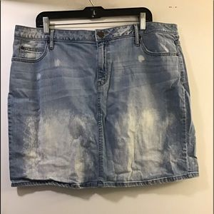 A.N.A. Denim Mini skirt distressed size 18W